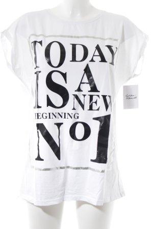 Calvin Klein T-Shirt weiß Glanz-Optik