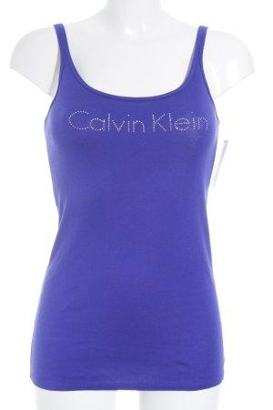 Calvin Klein Tanktop blauviolett sportlicher Stil