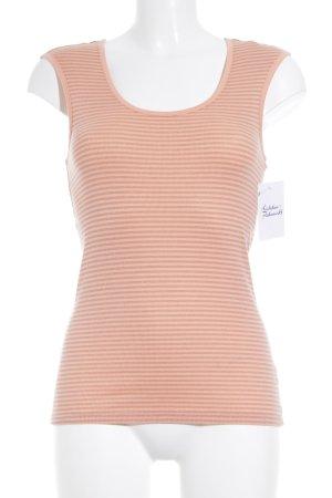 Calvin Klein Tanktop goldfarben-apricot Streifenmuster Casual-Look