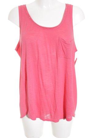 Calvin Klein Tanktop pink Materialmix-Look