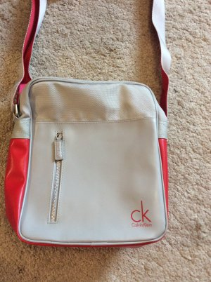 Calvin Klein Carry Bag silver-colored-red