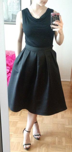 Calvin Klein Top Gr. 36 S wasserfall schwarz bluse shirt oberteil CK elegant