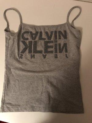 Calvin Klein Top schiena coperta grigio chiaro