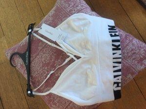 Calvin Klein Top básico blanco