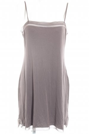Calvin Klein Trägerkleid taupe-graubraun Lingerie-Look