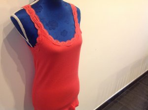 Calvin Klein Lace Top red cotton