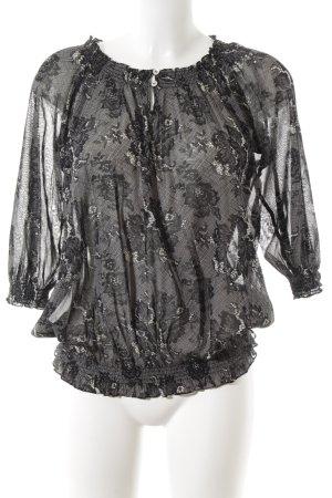 Calvin Klein Transparenz-Bluse schwarz Blumenmuster Casual-Look