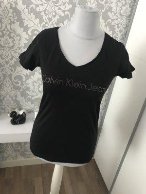 Calvin Klein Tshirt L schwarz Roségold