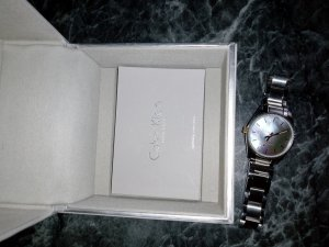 Calvin Klein Watch With Metal Strap light grey-dark grey
