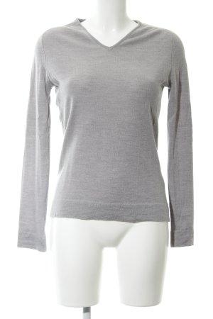 Calvin Klein V-Ausschnitt-Pullover hellgrau meliert Casual-Look