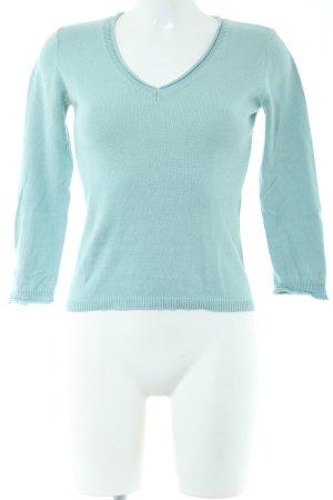Calvin Klein V-Ausschnitt-Pullover türkis Casual-Look