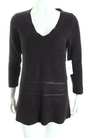 Calvin Klein V-Ausschnitt-Pullover dunkelbraun-bronzefarben Casual-Look