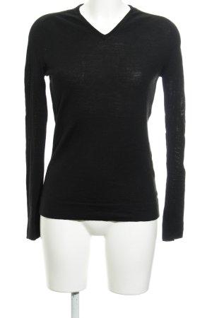 Calvin Klein Maglione con scollo a V nero stile casual