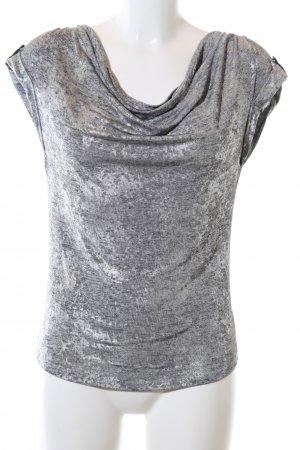 Calvin Klein Cowl-Neck Shirt light grey-silver-colored abstract pattern