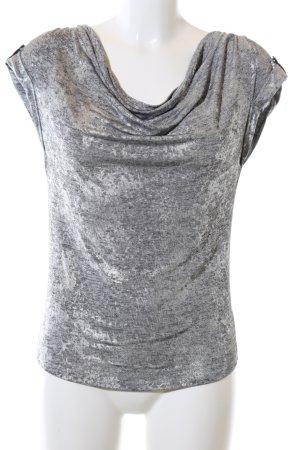 Calvin Klein Top col bénitier gris clair-argenté imprimé allover