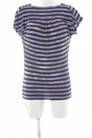 Calvin Klein Cowl-Neck Shirt black-lilac striped pattern casual look
