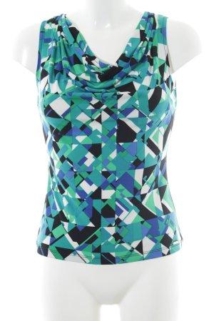 Calvin Klein Wasserfalltop abstraktes Muster extravaganter Stil