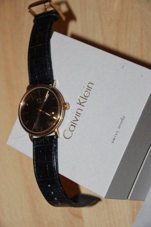 calvin klein watch gold schwarz