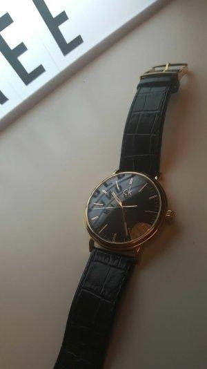 calvin klein watch / uhr gold schwarz