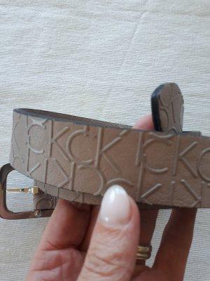 Calvin Klein Cintura in ecopelle marrone-grigio