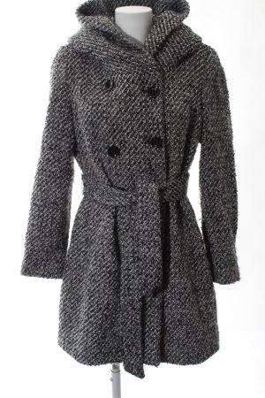 Calvin Klein Abrigo de lana negro-blanco look casual