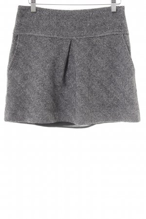 Calvin Klein Wool Skirt black-white striped pattern casual look