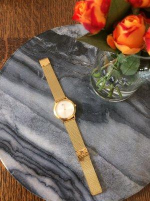 CalvinKlein Uhr unisex goldfarben, verstellbares Armband