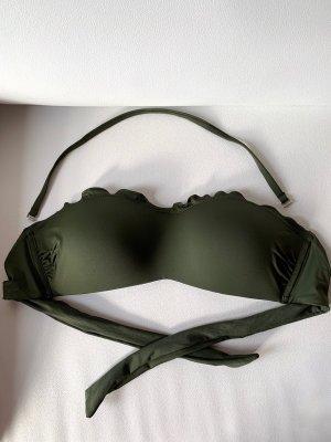 Calzedonia Bandeau Bikini Cobey | khaki