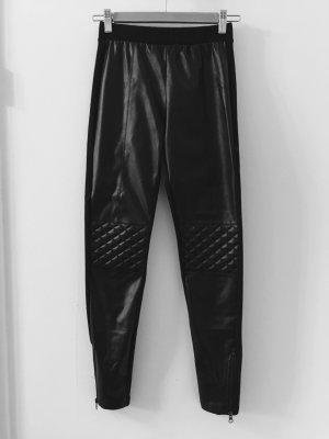 Calzedonia Biker Leder Leggings in schwarz Gr. S 36/38