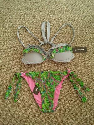 Calzedonia Bikini Fantasia Tropicale, Größe S, ungetragen