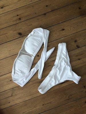 Calzedonia Bikini Mesh Weiß Top Set