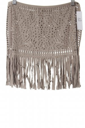 Calzedonia Fringed Skirt light brown casual look