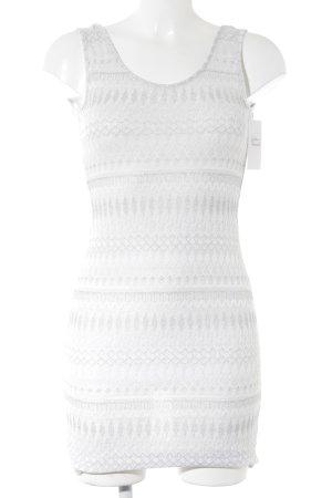 Calzedonia Strandkleid weiß-silberfarben abstraktes Muster Beach-Look