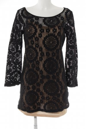 Calzedonia Knitted Dress black-beige casual look