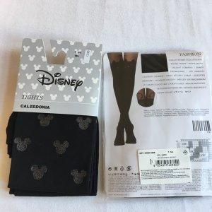 Calzedonia Strumpfhose mit Katzen und Mickey Maus