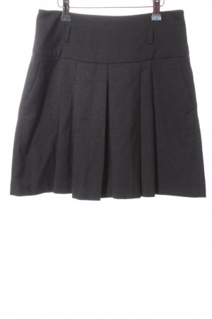 Camaieu Plaid Skirt light grey flecked business style
