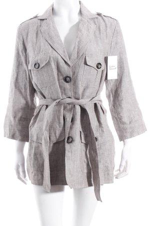 Camaieu Jacke hellgrau-silberfarben klassischer Stil