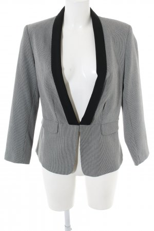 Camaieu Short Blazer black-light grey graphic pattern business style