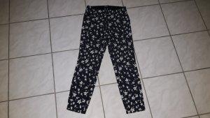 Cambio Pantalone a 7/8 blu scuro-bianco Cotone
