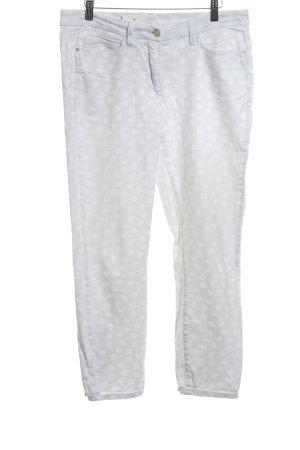 Cambio Jeans a 7/8 bianco-grigio chiaro motivo a pallini stile casual