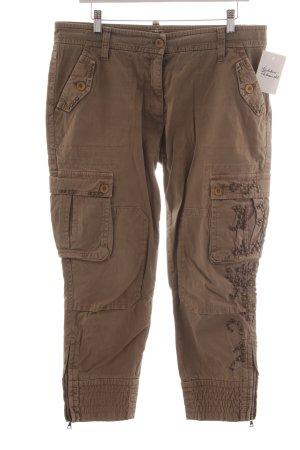 Cambio 7/8 Jeans beige extravaganter Stil