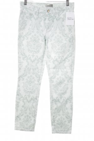 Cambio 7/8 Jeans mint-graugrün florales Muster Casual-Look