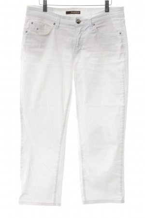 """Cambio Jeans a 7/8 """"Norah short"""" bianco"""