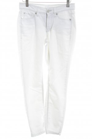 Cambio 7/8-jeans wolwit casual uitstraling
