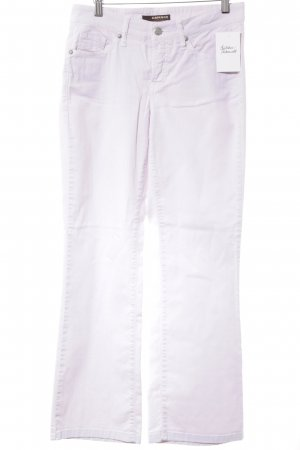 Cambio Boot Cut Jeans mauve-silver-colored casual look