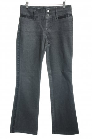 Cambio Boot Cut Jeans schwarz-wollweiß Retro-Look