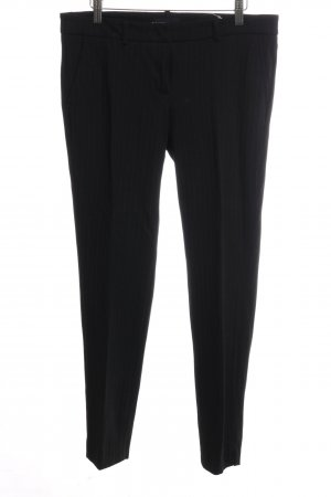 Cambio Pleated Trousers black striped pattern business style