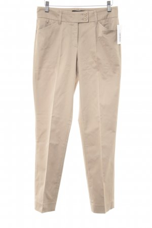 Cambio Pleated Trousers beige business style