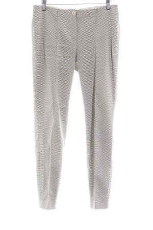 Cambio Bundfaltenhose beige-schwarz abstraktes Muster Casual-Look