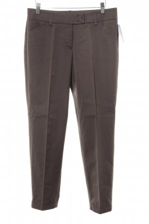 Cambio Bundfaltenhose graubraun Business-Look